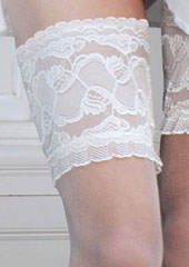 Couture Soft And Sheer Bridal Lace Top Hold Ups Zoom 2