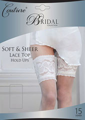 Couture Soft And Sheer Bridal Lace Top Hold Ups Zoom 1