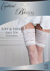 Couture Soft And Sheer Bridal Lace Top Stockings Zoom 1