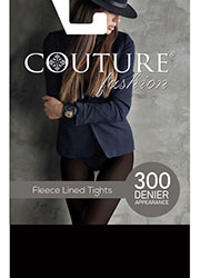 Couture Fashion Melange Fleece Tights