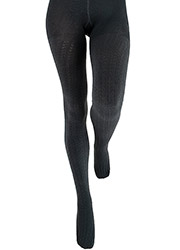 Couture Fashion Cable Fleece Tights