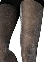 Couture Fashion Glitter Opaque Tights Zoom 2