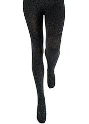 Couture Fashion Lurex Fleece Tights