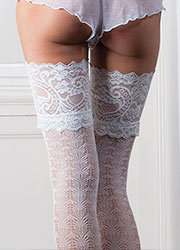 Couture Lace Design Bridal Lace Top Hold Ups Zoom 2
