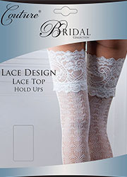 Couture Lace Design Bridal Lace Top Hold Ups Zoom 1