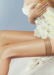 Couture Perfectly Sheer 10 Denier Tri Band Hold Ups Zoom 2