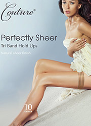 Couture Perfectly Sheer 10 Denier Tri Band Hold Ups