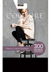 Couture Velvet Feel 300 Fleece Lined Footless Tights Zoom 3