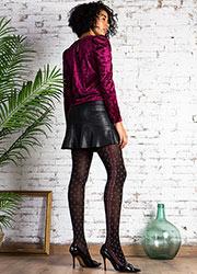 Cecilia de Rafael Brocatelle Fashion Tights Zoom 3