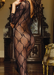 Dreamgirl Three Quarter Sleeve Lace Bodystocking Zoom 4