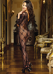 Dreamgirl Three Quarter Sleeve Lace Bodystocking Zoom 2