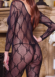 Dreamgirl Queen Size Sleeve Lace Bodystocking  Zoom 4