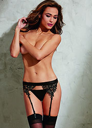 Dreamgirl Suspender Belt With Embroidered Venice Lace Trim Zoom 1