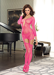 Dreamgirl Istanbul Hot Pink Keyhole Detail Garter Dress