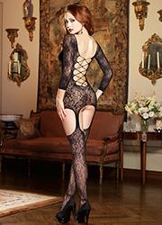 Dreamgirl Jakarta Lace Cross Back Garter Dress Zoom 3