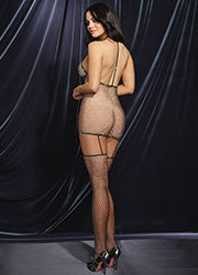 Dreamgirl Metallic Fishnet T Back Bodystocking  Zoom 2