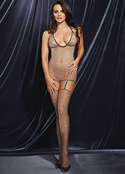 Dreamgirl Metallic Fishnet T Back Bodystocking  Zoom 1