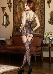 Dreamgirl Montreal Multi Strap Lace Garter Dress Zoom 3