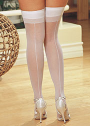Dreamgirl Sheer Moulin Backseam Stockings Queen Size Zoom 1