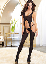 Dreamgirl Sheer Suspender Crotchless Bodystocking
