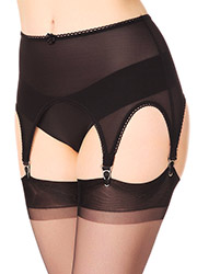 Elaine Edwards 6 Strap Powernet Suspender Belt