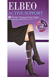 Elbeo Active Firm Support 60 Denier Opaque Knee Highs