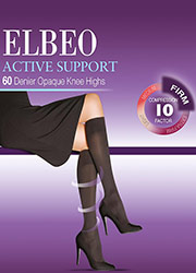 Elbeo Active Firm Support 60 Denier Opaque Knee Highs Zoom 1