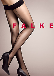 Falke High Heel Seamed Hold Ups - 12 Denier Zoom 2