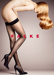 Falke High Heel Seamed Hold Ups - 12 Denier Zoom 1
