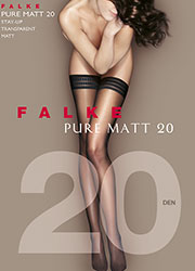 Falke Pure Matt 20 Denier Three Ring Hold Ups