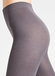 Falke Cotton Touch Footless Tights Zoom 4