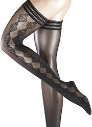 Falke Damask Hold Ups Zoom 2