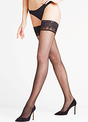 Falke Lunelle 8 Denier Contrast Top Hold Ups Zoom 3