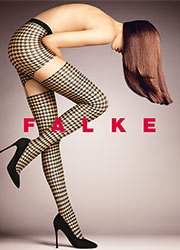 Falke Retro Patterned Suspender Tights