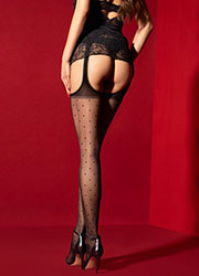Fiore Amore Mio Suspender Tights Zoom 3