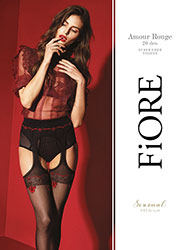 Fiore Amour Rouge Suspender Tights Zoom 3