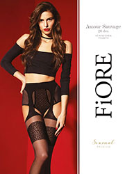 Fiore Amour Sauvage Suspender Tights Zoom 3