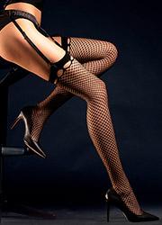 Fiore Burlesque Fishnet Stockings Zoom 3