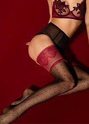 Fiore Catherine Deep Lace Hold Ups Zoom 3