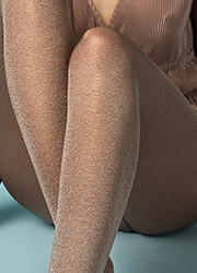 Fiore Gold Rush 60 Opaque Tights Zoom 2