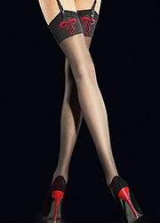FiORE Hypnose Sheer STOCKINGS 20 DENIERS Or Métallique Lurex Sparkle