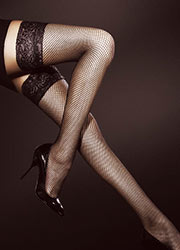 Fiore Liza Fishnet Hold Ups