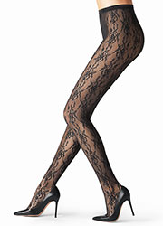 Fogal Romantic Net Tights Zoom 2