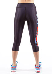 Fit Wise Black Capri Fitness Leggings Zoom 2