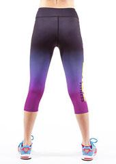 Fit Wise Purple Ombre Capri Fitness Leggings Zoom 2