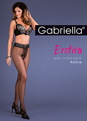 Gabriella Amira Open Crotch Tights