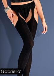 Gabriella Microfibre Strip Panty Tights Zoom 2