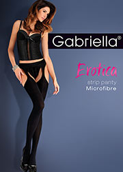 Gabriella Microfibre Strip Panty Tights