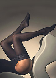 bf9fb8939 Opaque Hold Ups Black Brown   Navy  Earth s Biggest Selection UK Tights