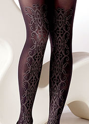 Gipsy Ornate Sparkle Front Detail Tights Zoom 2